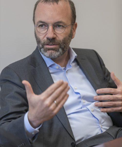Diskussion Manfred Weber Fraktionsvorsitzender der Europäischen Volkspartei im Europäischen Parlament Presseclub Regensburg Foto: altrofoto.de